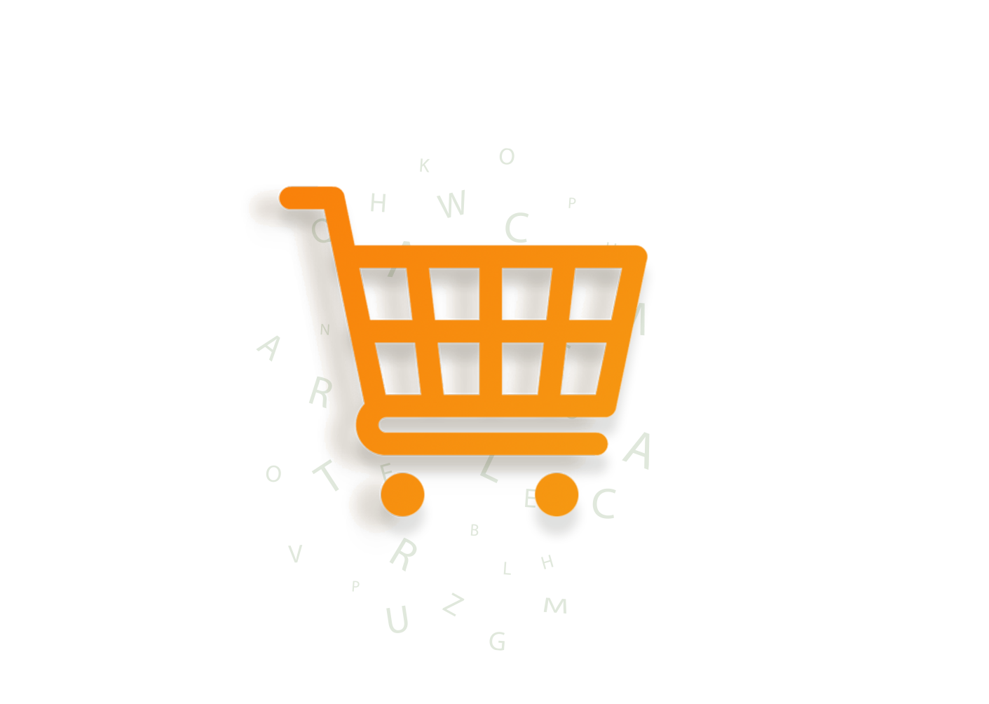 Shopping cart orange