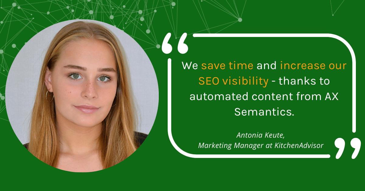 Saving Time while increasing SEO Visibility - How KitchenAdvisor achieves Success with Automated Content Generation